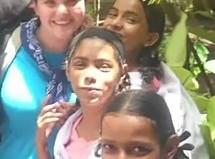 Georgia teen with Mumbai kids