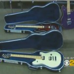 Guitars donated by Eddie Van Halen -CBS video