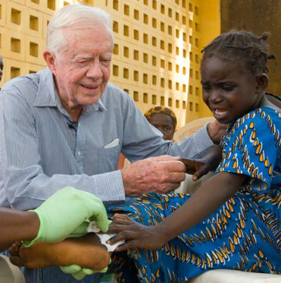 Jimmy Carter fights Guinea worm -Carter Center photo