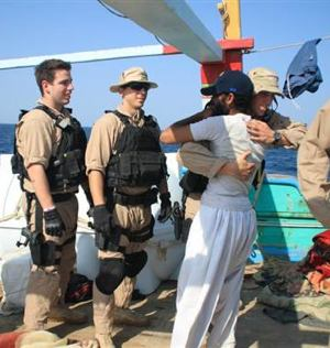 Navy rescues Iranians from pirates - US Navy photo