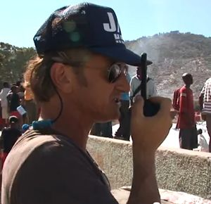 Sean Penn in Haiti - charity photo