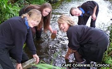 Students Science experiment in UK