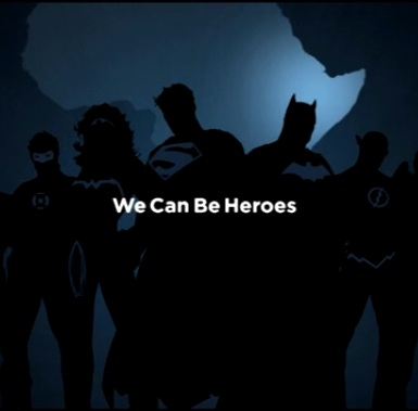 Superheroes campaign for Africa