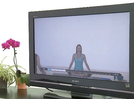 Yoga online TV screen - YogaGlo video