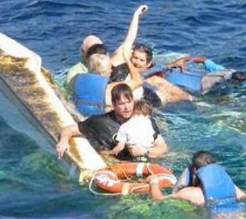 plane crash family saved in carribean