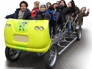 Bicycle schoolbus made by Tolkamp Metaalspecials