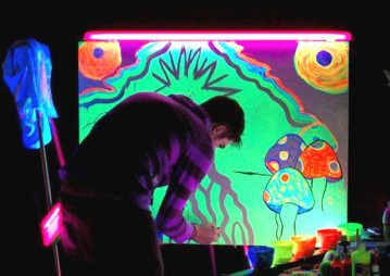 James Smith's Black Light Performance Art