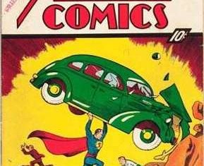 Comic book Action comics cover