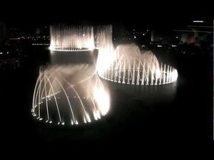 Fountains at night Dubai