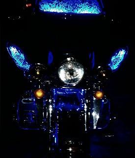 Harley lit up by Illumatek