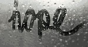 Hope written on foggy window-miserabledays-tumblr-photo