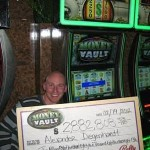 Jackpot winner in Vegas with his big check