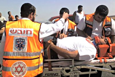 Jewish ambulance helpers -United Hatzalah photo