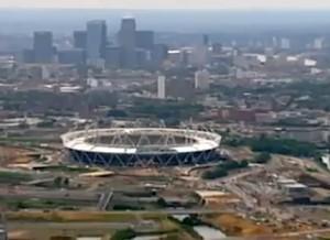 Olympic stadium construction London