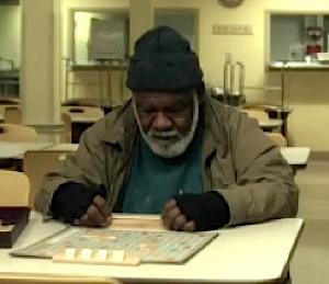 Scrabble playing homeless preacher