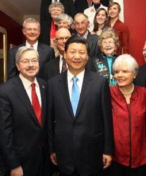 Xi Jinping in Iowa - copyright Xinhua News