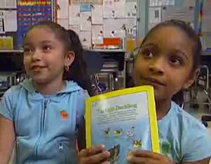 students choose books - MSNBC video snapshot