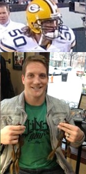 AJ Hawk Packers-Wigs for Kids