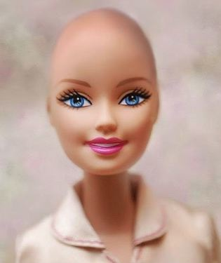 Bald Barbie in Mattel photo