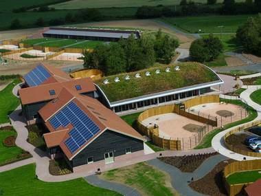 Green building, Dogs Trust in Shrewsbury, Britain