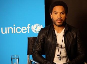 Lenny Kravitz UNICEF Water Ambassador
