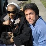 Mitch Albom with Mrs Hollis - S.A.Y. Detroit photo