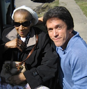 Mitch Albom with Mrs Hollis - S.A.Y. Detroit photo