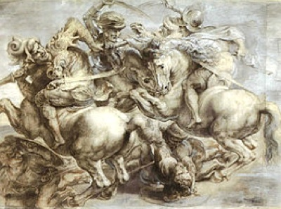 Painting of Anghiari Battle da vinci-USpublicdomain