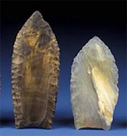 Paleo-Indian spear heads - Smithsonian Anthropology photos
