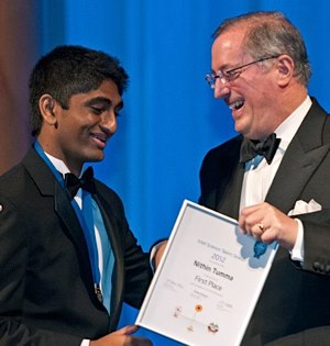 Science Talent Search winner Nithin Tumma-Intel Photo