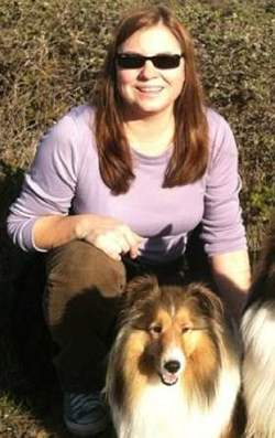Sheltie with owner Barbara Bagley -Facebook