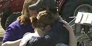 tornado victims hug NBC video snapshot