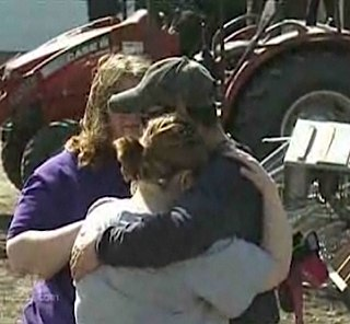 tornado victims hug NBC video snapshot