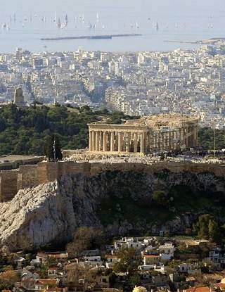 Athens skyline, Photo by Rob and Lisa Meehan -CC