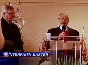 Easter Services in Mosque - CloseUp snapshot via CBS Video