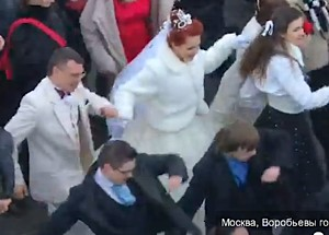 Flash Mob Russians Puttin on the Ritz