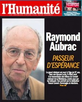 French headline hails Raymond Aubrac