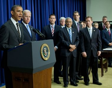 Obama addresses STOCK Act signers