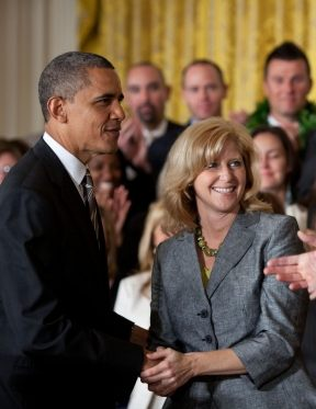 Obama with Teacher of Year 2012 -WH photo