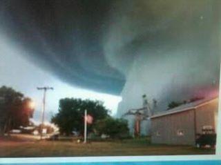 tornado photo from surveillance camera