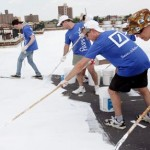 white roofs painting - NYC CoolRoofs photo