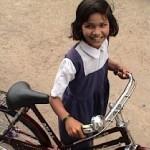 Bike helps girls in India - photo from CurrentInternational.org
