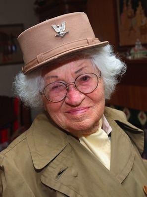 Female WWII veteran Bea Cohen 102yo