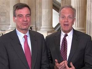 Mark Warner and Jerry Moran on MSNBC video
