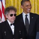 Obama with Bob Dylan gets Medal of Freedom at the White House