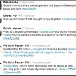 Tweets in Sudan for peace