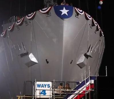USNS Cesar Chavez launch
