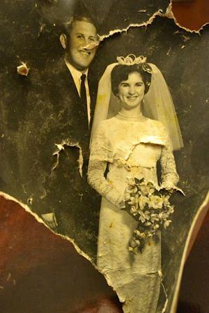 wedding photo torn in tornado