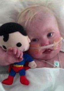 Baby in hospital family photo