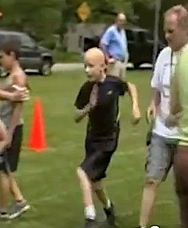 Boy runs with cerebral palsy - Woodrum family video